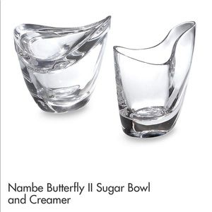 "New! Nambe ""butterfly"" cream & sugar set"